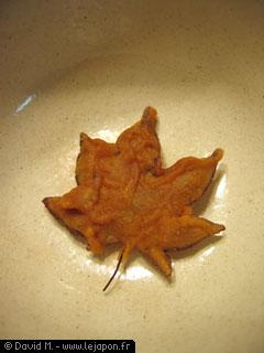 Le beignet de feuille d'arbre