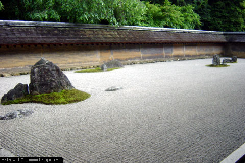 Jardin zen du temple Ryoanji de Kyoto