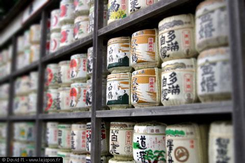 Barriques de Sakés à Kamakura