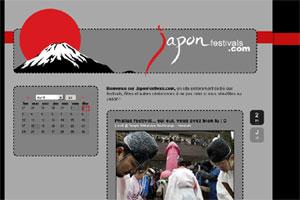 Shoot d'écran du site Japon Festivals .com
