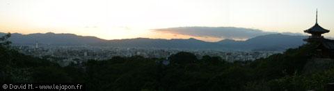 photo panoramique de Kyoto vu de haut