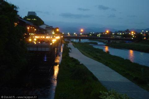 Bords de la rivière Kamo à Kyoto
