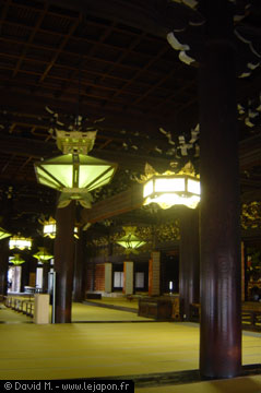 Intérieur du temple Higashi Honganji de Kyoto