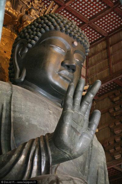 Grand bouddha, Daibutsu den à Nara - Japon