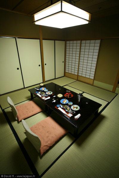 Repas du soir dans un Ryokan japonais