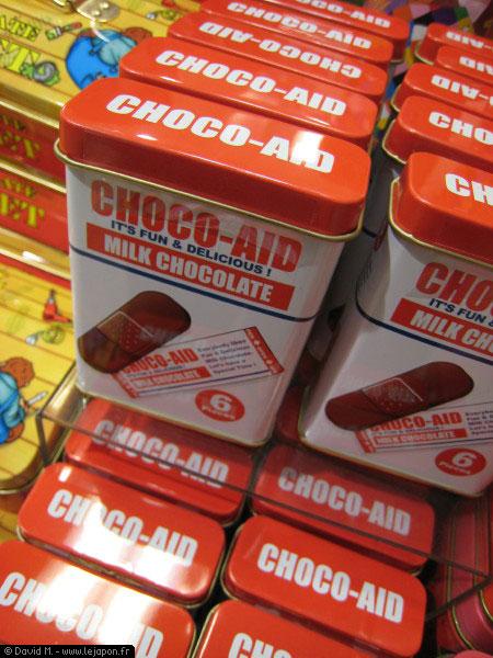 Des pansements chocolat pour les coeurs brisés au Japon