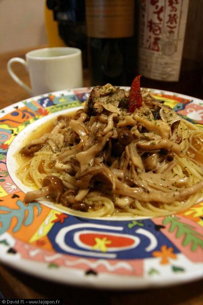 Plat italien au Japon