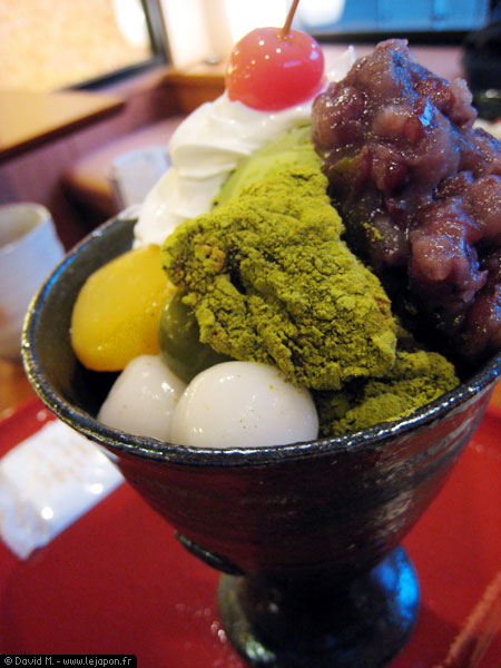 Glace japonaise traditionnelle au thé vert