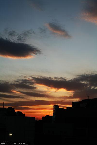 Couché de soleil sur Tokyo