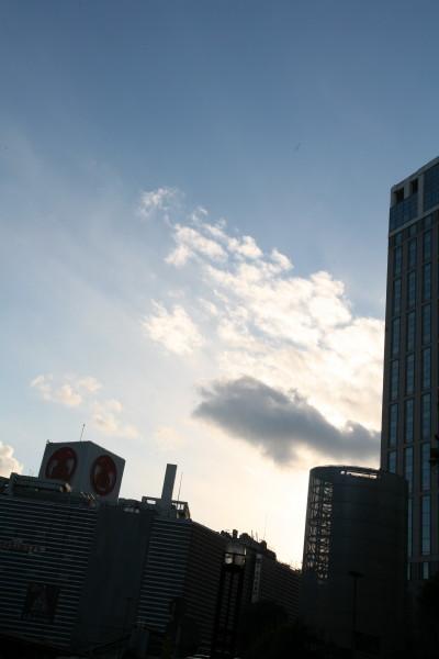 Ciel bleu hivernal du Japon