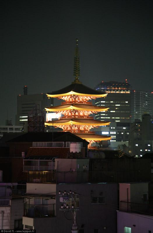 Tokyo Asakusa vu des toits