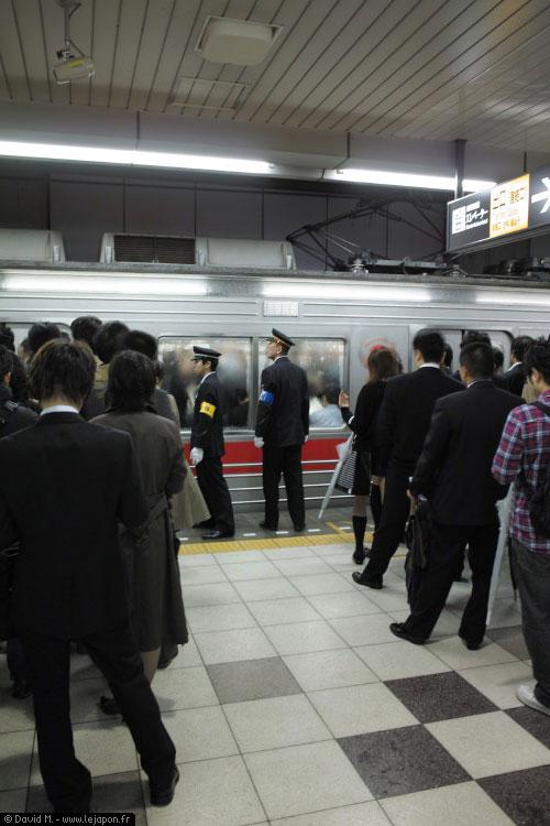 Metro rush hour at Tokyo - Heure de pointe au Japon