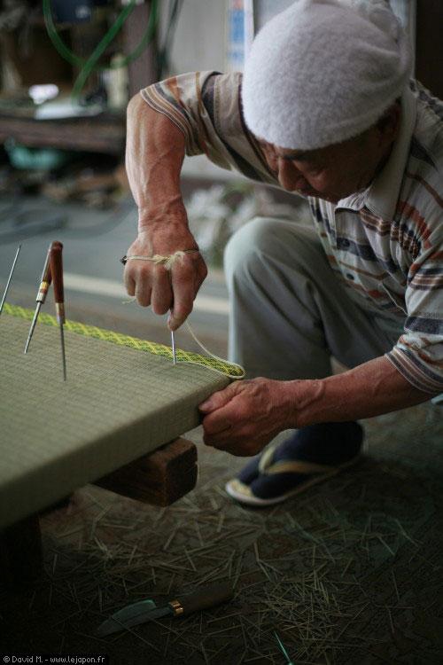 Artisan de tatami japonais
