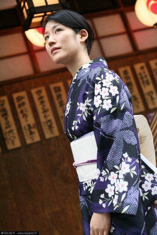 Japonaise en Kimono à Ginza - Tokyo