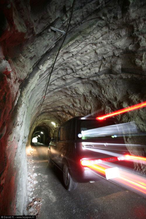 Tunnel fait mains en plein coeur de la région de Chiba au Japon