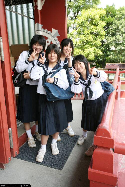 Jeunes étudiantes japonaises