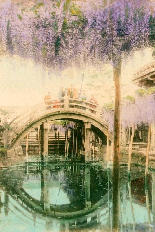 Sanctuaire Kameido Tenjin en 1880