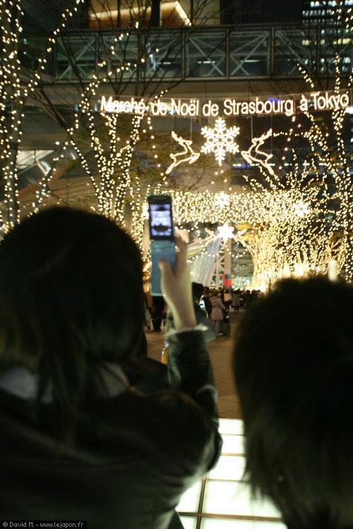 Marché de Noël de Strasbourg à Tokyo, la nuit !