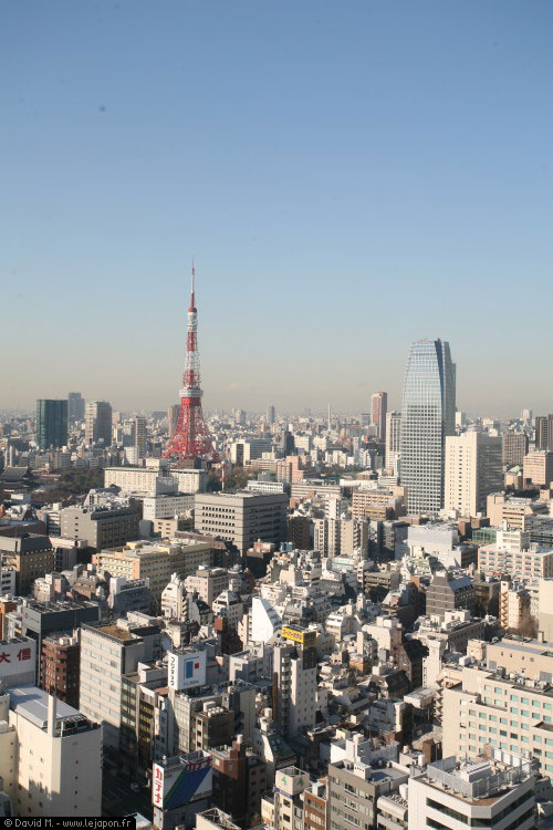 Tokyo vu du ciel avec la Tokyo Tower et le Mont Fuji-yama