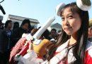 Sentaï et Maids au temple Ryohoji pour Mochitsuki-taikai !