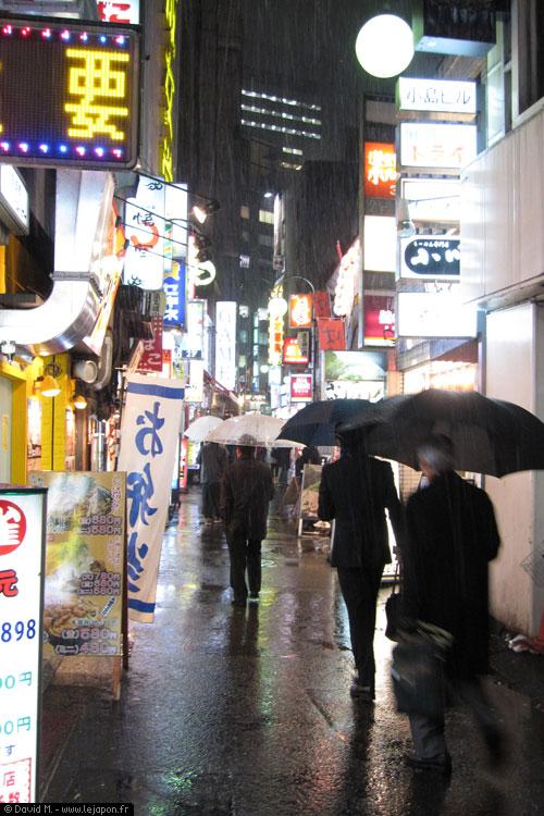 Tokyo Shibuya sous une tempête de neige