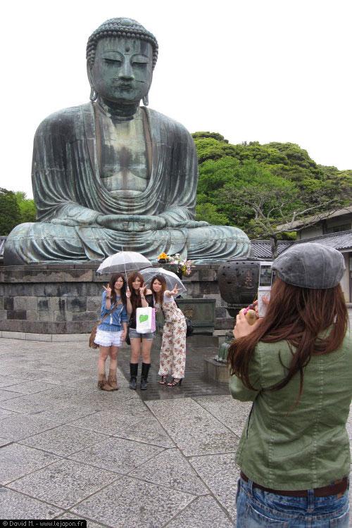 Shibuyettes devant le Grand Bouddha du Kotoku-in à Kamakura
