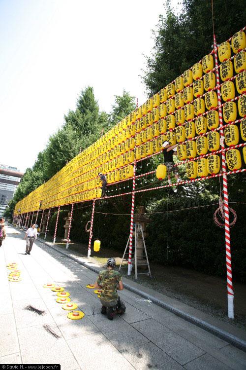 Yasukuni Mitama Matsuri préparatifs