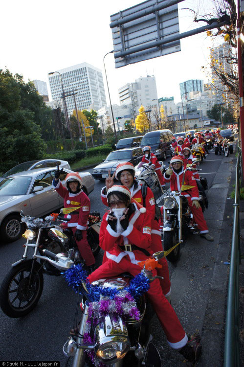Motards Père Noël au Japon