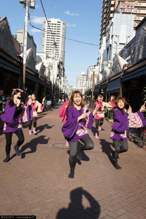 Groupe de jeunes filles pour les Monja