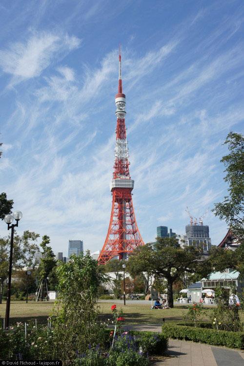 Tokyo Tower ciel bleu