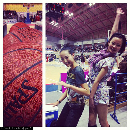 Kazuha Kondo et Ayaka Koyanagi au match de Basket des Kings d'Okinawa