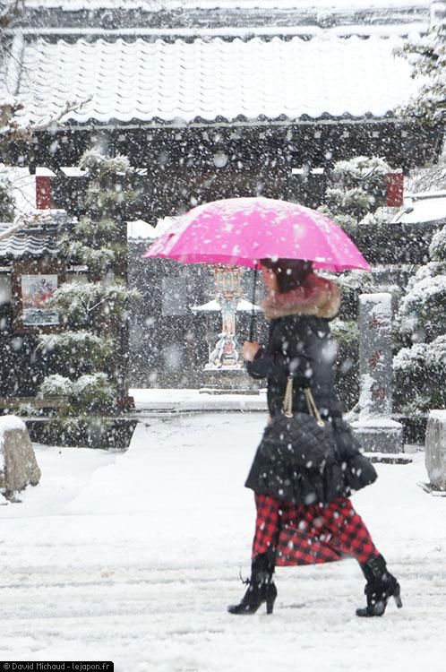 Retour de la neige à Yokohama