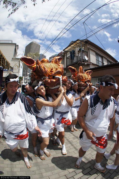 Shishi Tsukuda Sumiyoshi Grand Festival Tokyo Matsuri