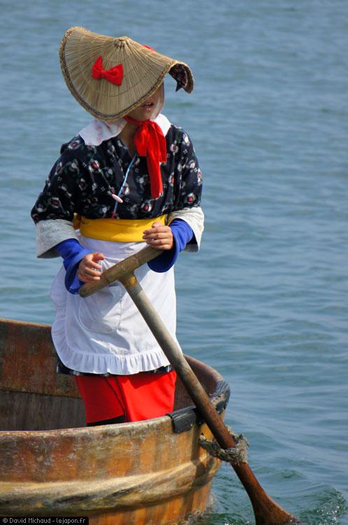 Pêcheuse japonaise Tarai-bune