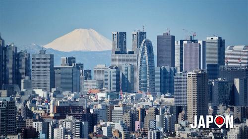 Mont Fuji san et Shinjuku vu de Tokyo