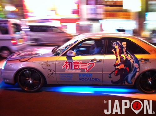 culture itasha quand les otaku font du tuning de voiture le japon fr. Black Bedroom Furniture Sets. Home Design Ideas