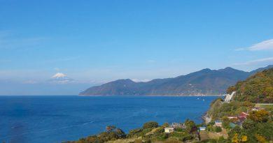 Fuji san vu de la péninsule d'Izu