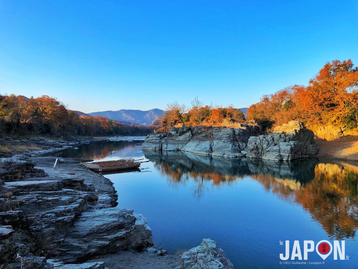 Rivière Arakawa sur les abords de Nagatoro aux couleurs automnales