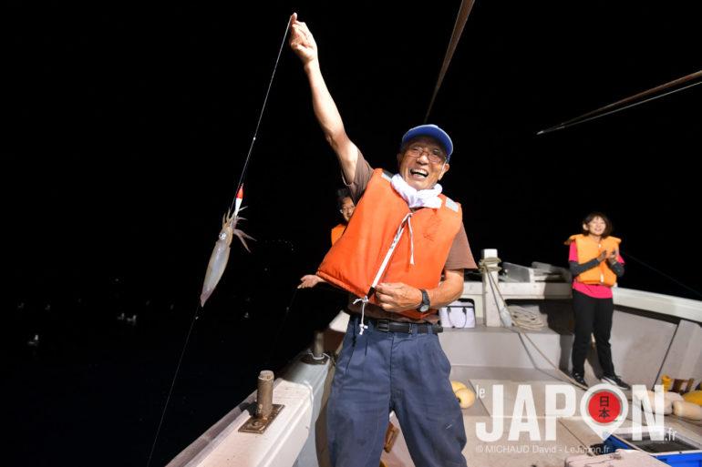 Pêche aux calamars au Japon avec Abe san