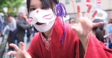 BakeNeko Matsuri à Kagurazaka, le festival des hommes chats !