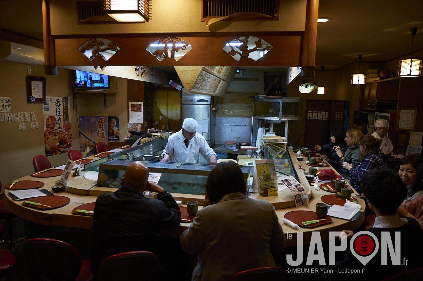 Minatokan Restaurantde Sushi à Hyogo Japon